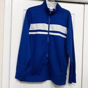 Star mens Long Sleeve Zip Front Blue Jacket Size L